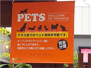 ペットの同伴も可能なLaVASARA(ラ・バサラ)