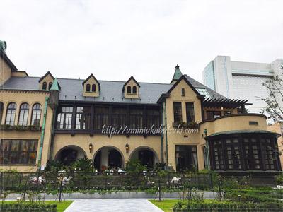 以前の赤坂グランドプリンスホテルの旧館をリノベーションした、チューダー様式と呼ばれる建築様式の赤坂プリンスクラシックハウスの建物。