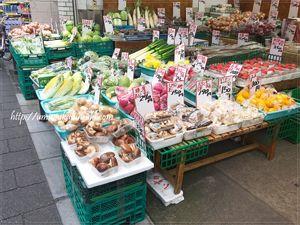 「東宝青果」に陳列された野菜