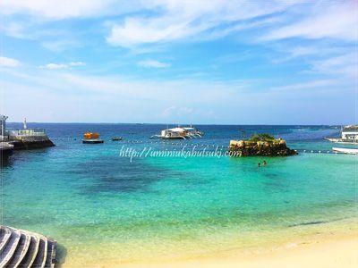 モーベンピックホテルマクタンアイランドセブ(Moevenpick Hotel Mactan Island Cebu)の静かなプライベートビーチ