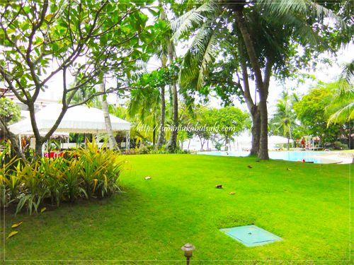 セブ島の中でもさらに自然との一体を感じることができる高級リゾートホテルの庭園