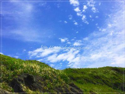 城ヶ島の真ん中に小高くそびえる山頂は、中距離のハイキングコースになっている。