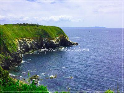 城ケ島ハイキングコースにあるウミウ展望台からの絶景