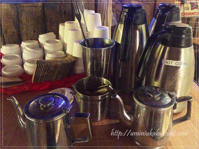 ゼストキャンティーナのテイクアウト用無料コーヒー。