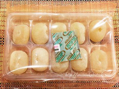 きび団子のような形をしているとうふ餅。