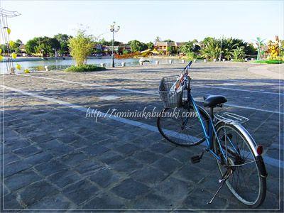 ホイアンで宿泊したヴィラで無料貸し出ししていた自転車