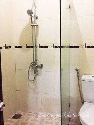 しっかりした水圧のシャワーとトイレ