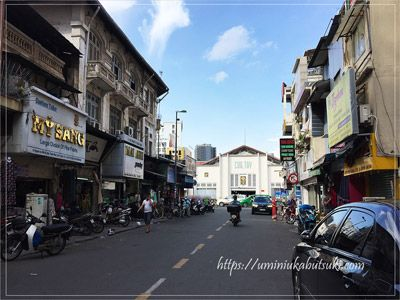 チュオンディン(Truoug Dinh)通りからベンタイン市場へ向かう道