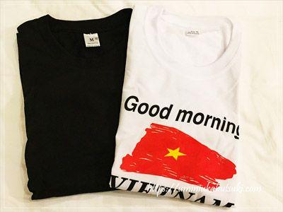ベトナム国旗がプリントされた現地が分かるTシャツ