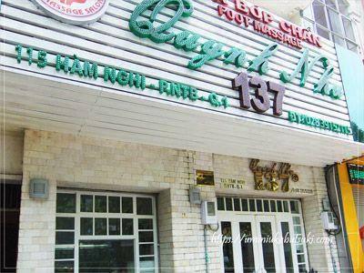 ハムギー(Ham Nghi)通り沿いにある「Foot Massage Quynh Nhu 137」