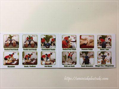 Quynh Nhu 137の施術コースが紹介されているカード