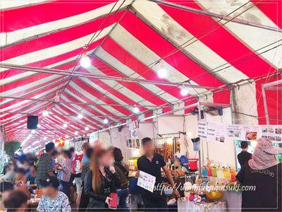 フォムグーラオ通り周辺エリアの中心にある「9月23日公園」では、週末にマーケットが開催される