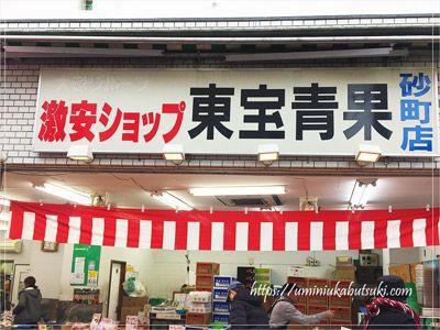 野菜や果物が安い東京下町の砂町銀座中央あたりにある東宝青果