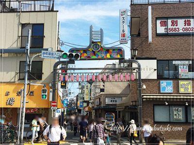 食べ歩きで人気のグルメな街、砂町銀座商店街西口エリアの風景