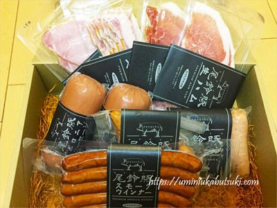 宮崎県都農町から届いた返礼品のボロニアソーセージ300g&生ハムスライス55g