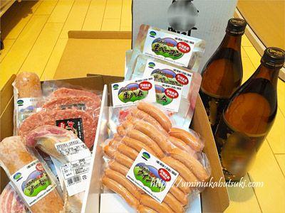 宮崎県都城市の返礼品に用意されていたハムやソーセージのセット