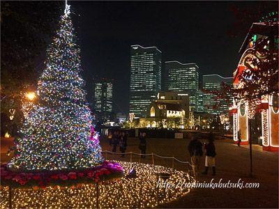 横浜赤レンガ倉庫クリスマスマーケットと桜木町駅の間にあるイルミネーションスポット