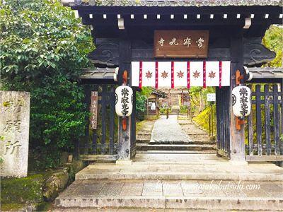 周囲を囲む塀がなく自然と一体化した姿が美しい常寂光寺(じょうじゃっこうじ)