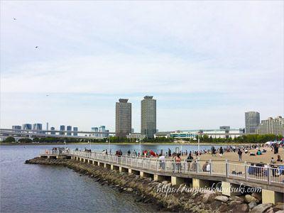 gwのお台場海浜公園も人混みで大混雑