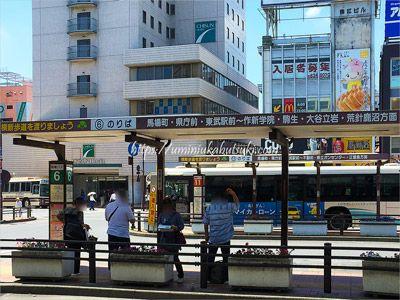 大谷資料館へのアクセスに利用する6番のバス停
