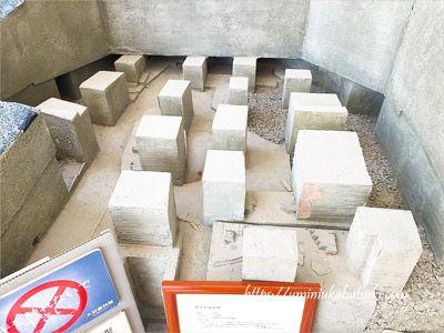 東京ドーム1個分の大きさがあると言う大谷資料館の地下採掘場跡の模型