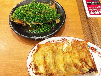 宇都宮駅に入っている人気の餃子店「青源」のネギ味噌焼餃子6個420円(税込)
