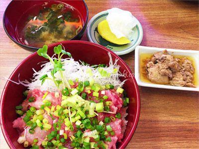 城ケ島で人気の中村屋のネギトロ丼ランチ1,100円