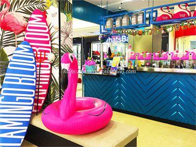 フラミンゴが印象的な、女子旅を盛り上げるFLAMINGO BLOOMカフェ。