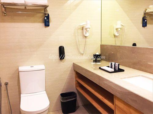 清潔感漂うSunway Clio Hotel(サンウェイクリオホテル)のバスルーム