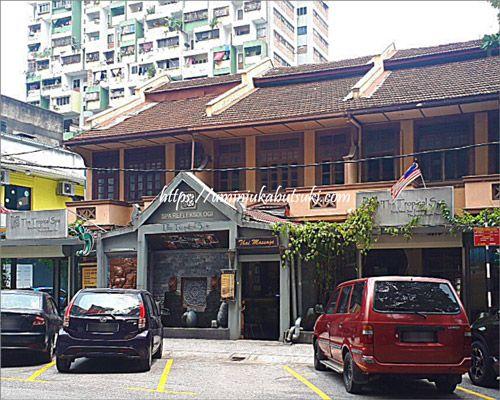 クアラルンプールのブキッビンタンにあるトロピカルスパ(The Tropical Spa Sdn Bhd)の入り口