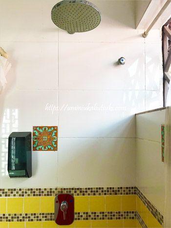 水圧が抜群のレインシャワーはマラッカ観光での汗をしっかり流してくれる