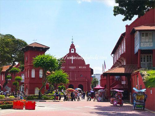 マラッカ観光の中心となるオランダ広場