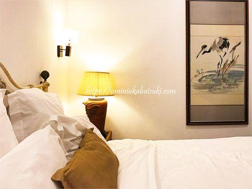 清潔なリネンと適度なクッション性のベッドは深い眠りに誘ってくれる