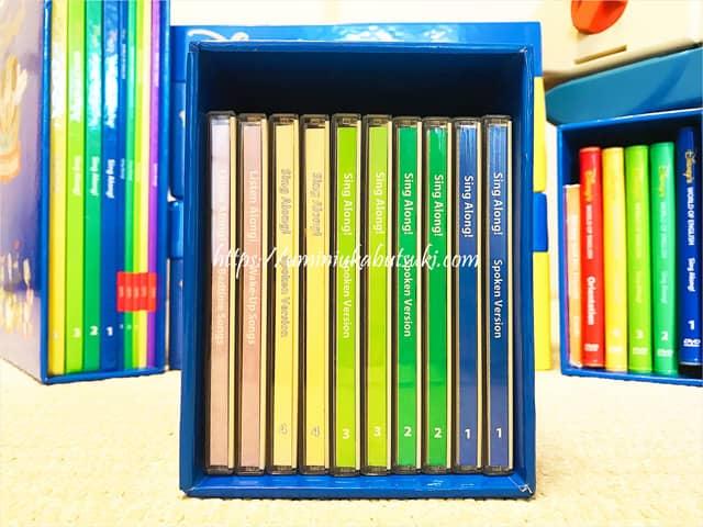 英語の歌が収録されているディズニー英語システムのCD